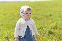 Girl in Kerchief Stock Photo