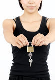 Girl with the key Stock Photos