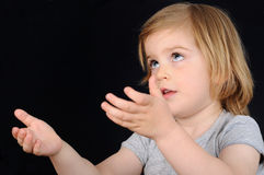 Girl, kid, hope, pray royalty free stock images