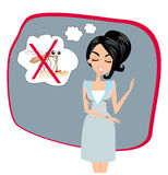 Girl kill mosquito Royalty Free Stock Photo
