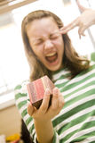 The girl kills itself because of a gift Royalty Free Stock Photos