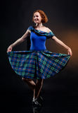 The girl in a kilt Stock Photos