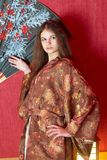 Girl in kimono Royalty Free Stock Photo
