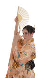 Girl in a kimono Royalty Free Stock Photography