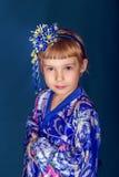 Girl in a kimono royalty free stock photos