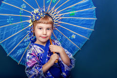 Girl in a kimono Royalty Free Stock Photo