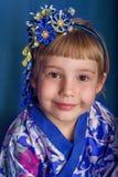 Girl in a kimono Stock Image