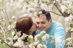 Girl Kissing Her Beloved Stock Image