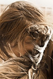 A girl kissing her dog royalty free stock photography
