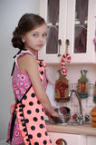 Girl in the kitchen Royalty Free Stock Photo
