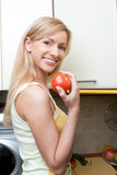 The girl on kitchen Royalty Free Stock Photo