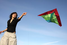 The girl and kite 2 Royalty Free Stock Image