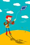 Girl with kite Stock Photography