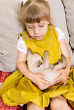 Girl with a kitten Royalty Free Stock Photos