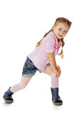 Girl in knee socks Royalty Free Stock Photos