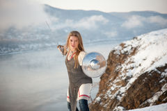 Girl knight Stock Photos