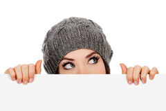 Girl in knitted hat Royalty Free Stock Images