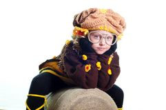 The girl in a knitted suit Royalty Free Stock Photos