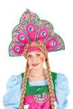 Girl in kokoshnik Stock Photo