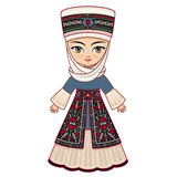 The girl in Kyrgyz dress. Historical clothes. Stock Images