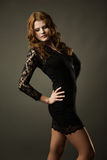 Girl in lace dress Royalty Free Stock Photo