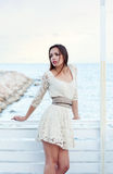 Girl in a lace dress Royalty Free Stock Photo