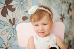 Girl with Lace Headband Royalty Free Stock Photo