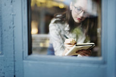Girl Lady Style Restaurant Leisure Chill Cafe Fun Concept Stock Images