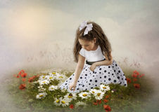 The girl and ladybird Royalty Free Stock Photos