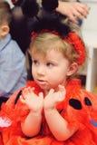 Girl in Ladybug Dress Royalty Free Stock Images