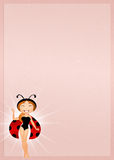 Girl ladybug Royalty Free Stock Photography
