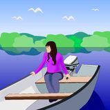 Girl on the lake. Stock Images
