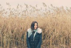 Girl On The Lake stock photography