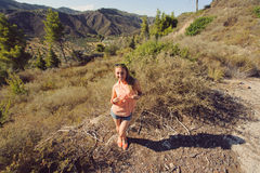 Girl and Landscape Stock Photos