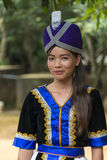 Girl from Laos Hmong ethnic minority hill tribe Royalty Free Stock Image