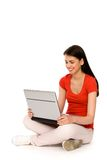 Girl with laptop Royalty Free Stock Images