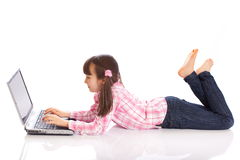Girl with laptop Stock Photo