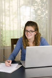 Girl laptop Royalty Free Stock Photos