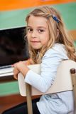 Girl With Laptop In Classroom Royalty Free Stock Photography