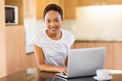 Girl laptop computer Stock Images