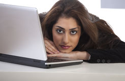 Girl on laptop Royalty Free Stock Image