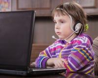 girl laptop using Στοκ Φωτογραφία
