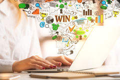 girl laptop using Στοκ Εικόνα