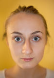 Girl with a large eyes Stock Images