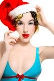 Girl in latex bra Stock Photo