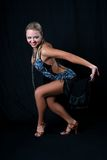 Girl latin dancer Royalty Free Stock Image