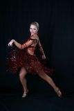 Girl latin dancer Royalty Free Stock Photography