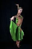 Girl latin dancer Stock Images