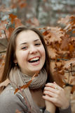 Girl is laughing Royalty Free Stock Photo