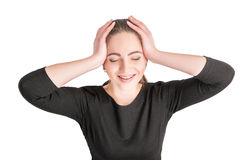 Girl laughing hysterically Stock Image